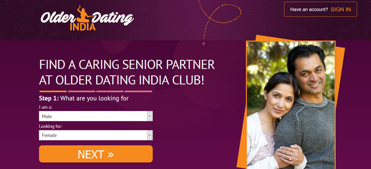 Mature dating sites in india